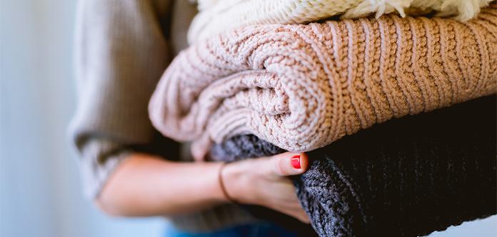 Wäsche waschen sortieren