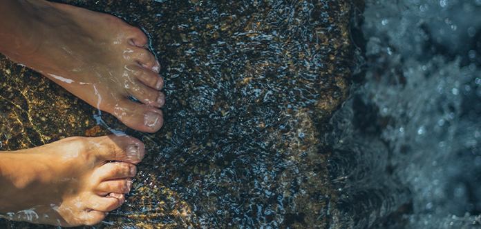 Zehen müssen immer richtig abgetrocknet werden
